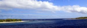 Inngangen til vår første atoll - Endel strøm
