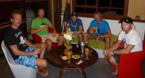 Gjengen samlet på Havaiki