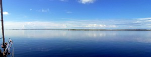 HELT vindstille i atollen