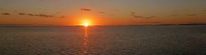 Sola på vei ned  i Stillehavet